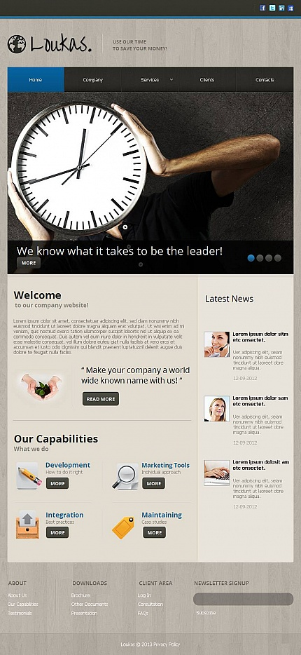 ADOBE Photoshop Template 45210 Home Page Screenshot