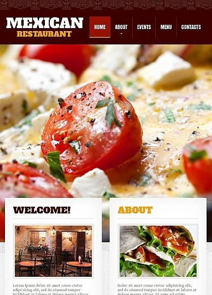 Facebook HTML CMS шаблон на тему мексиканський ресторан Facebook Screenshot