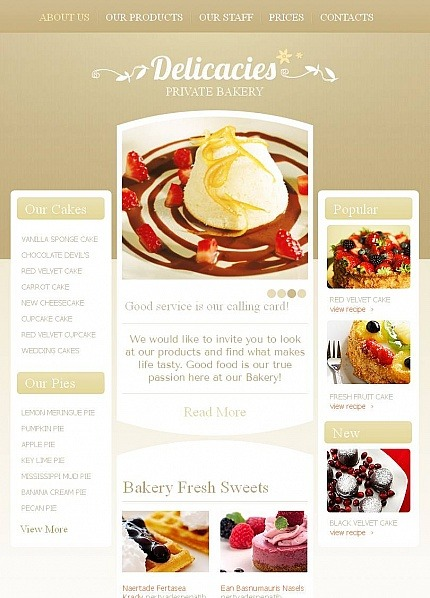 Templates CMS em HTML de Facebook para Sites de Padaria №45216 Facebook Screenshot