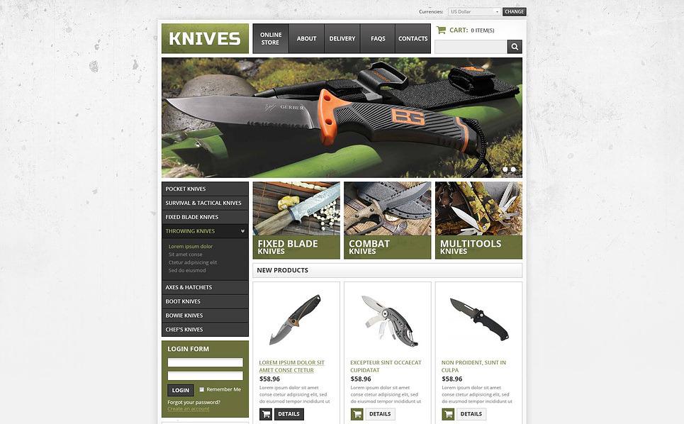Silah Mağazası  Virtuemart Şablonu New Screenshots BIG