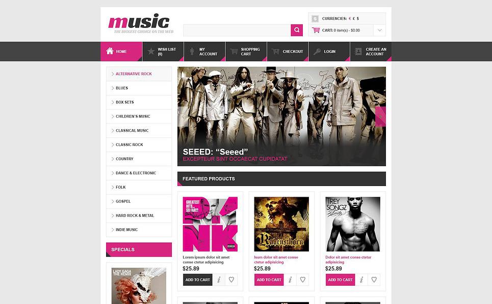 Szablon OpenCart Sklep muzyczny #45232 New Screenshots BIG