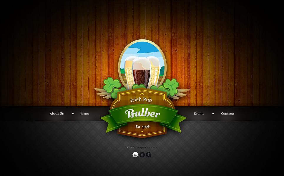 Template Web Bootstrap para Sites de Pub №45238 New Screenshots BIG