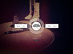 Music Website  Template 45239