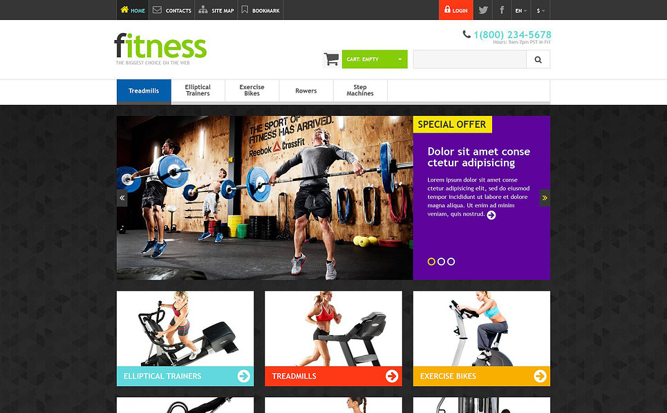 Responsive Spor Mağazası  Prestashop Teması New Screenshots BIG