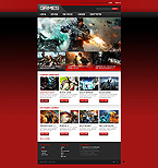 Games Website  Template 45246