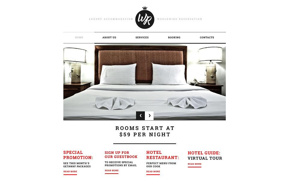 Responsywny szablon strony www #45249 na temat: hotele New Screenshots BIG