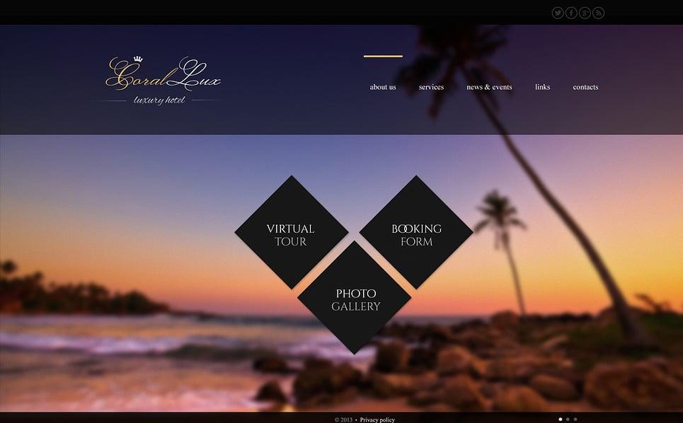 Bootstrap Šablona webových stránek na téma Hotely New Screenshots BIG