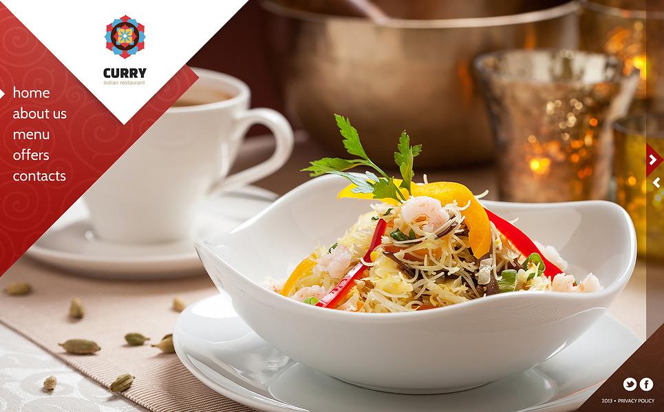 Bootstrap Шаблон сайту на тему індійський ресторан New Screenshots BIG