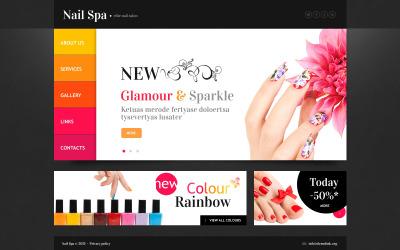 Nail Salon 网页模板
