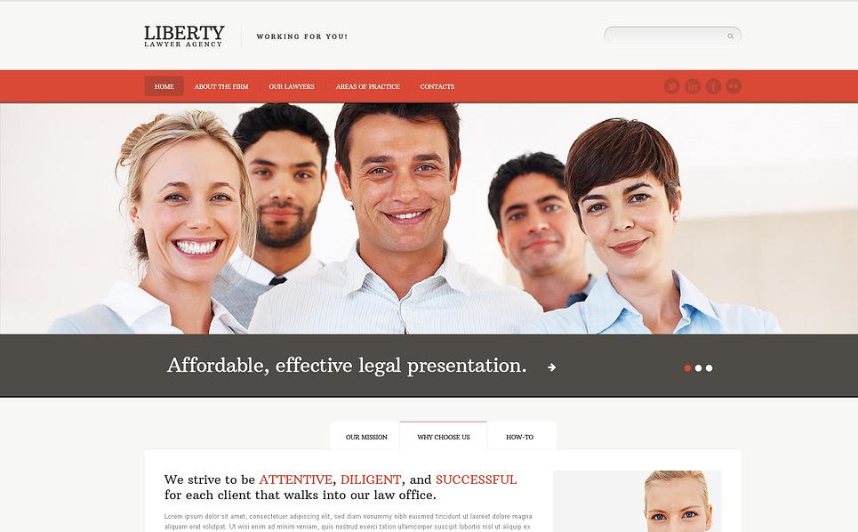 Responsive Website template over Advocatenkantoor  New Screenshots BIG