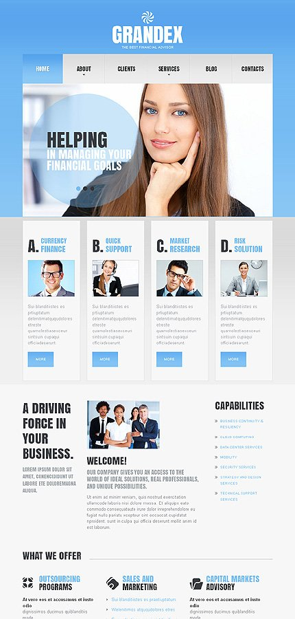 Joomla Theme/Template 45273 Main Page Screenshot