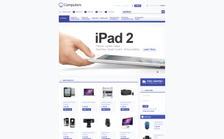 Computer Supplies VirtueMart Template