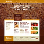 Agriculture Website  Template 45284