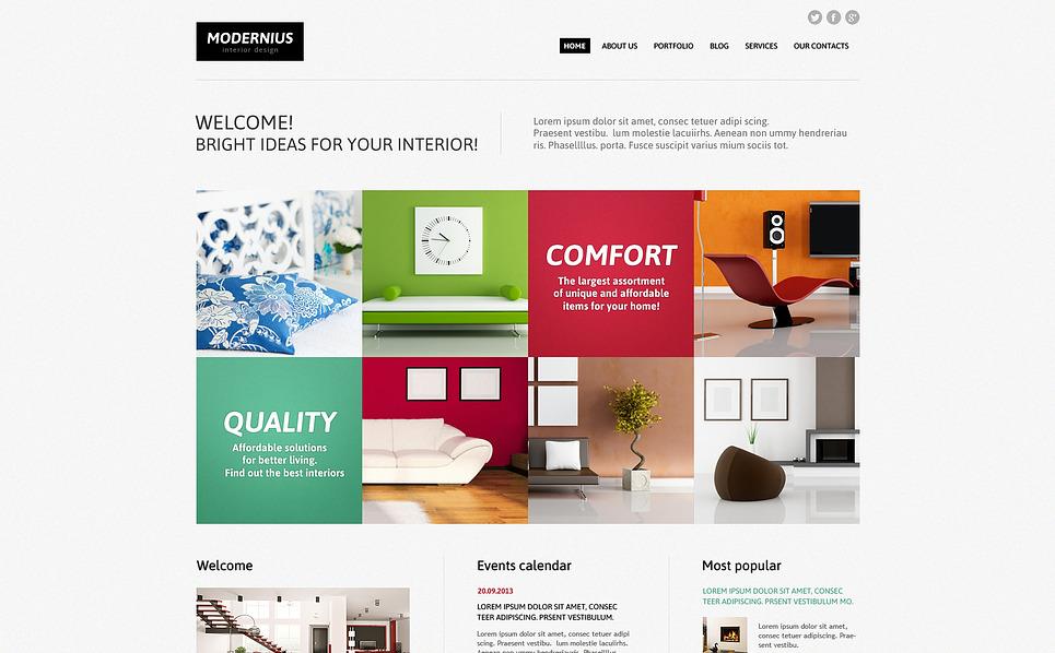 Responsive Joomla Vorlage für Innenarchitektur  New Screenshots BIG