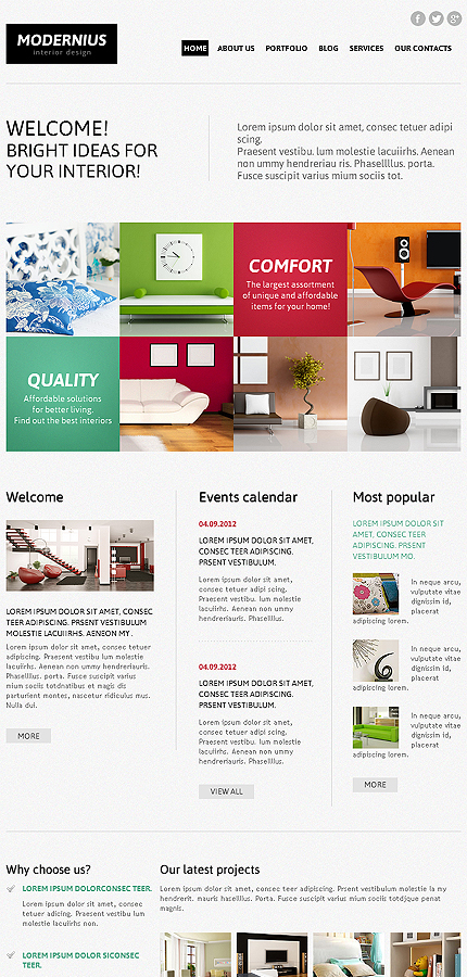 Joomla Theme/Template 45288 Main Page Screenshot