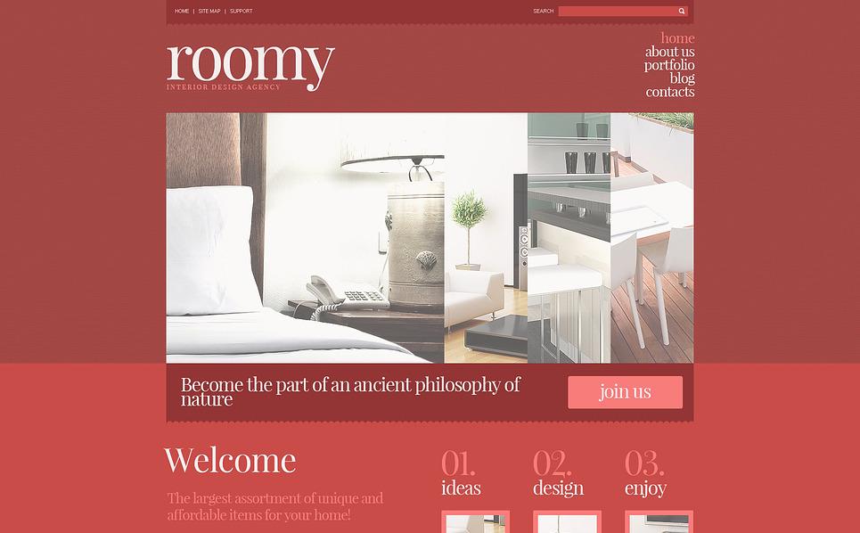 Адаптивний Joomla шаблон на тему внутрішній дизайн New Screenshots BIG