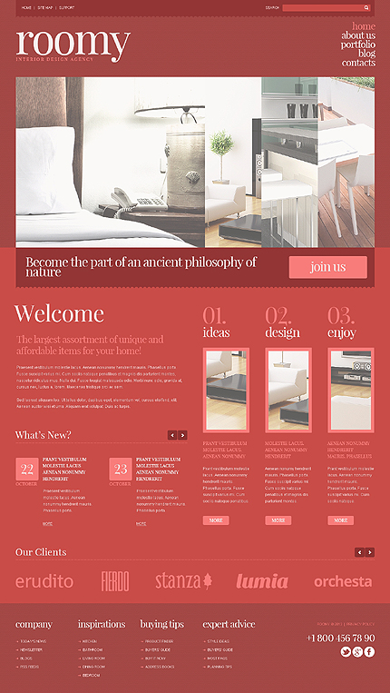 Joomla Theme/Template 45292 Main Page Screenshot