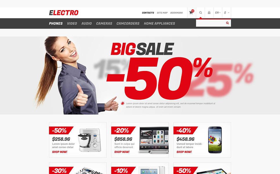 Responsive PrestaShop Thema over Elektronicawinkel  New Screenshots BIG