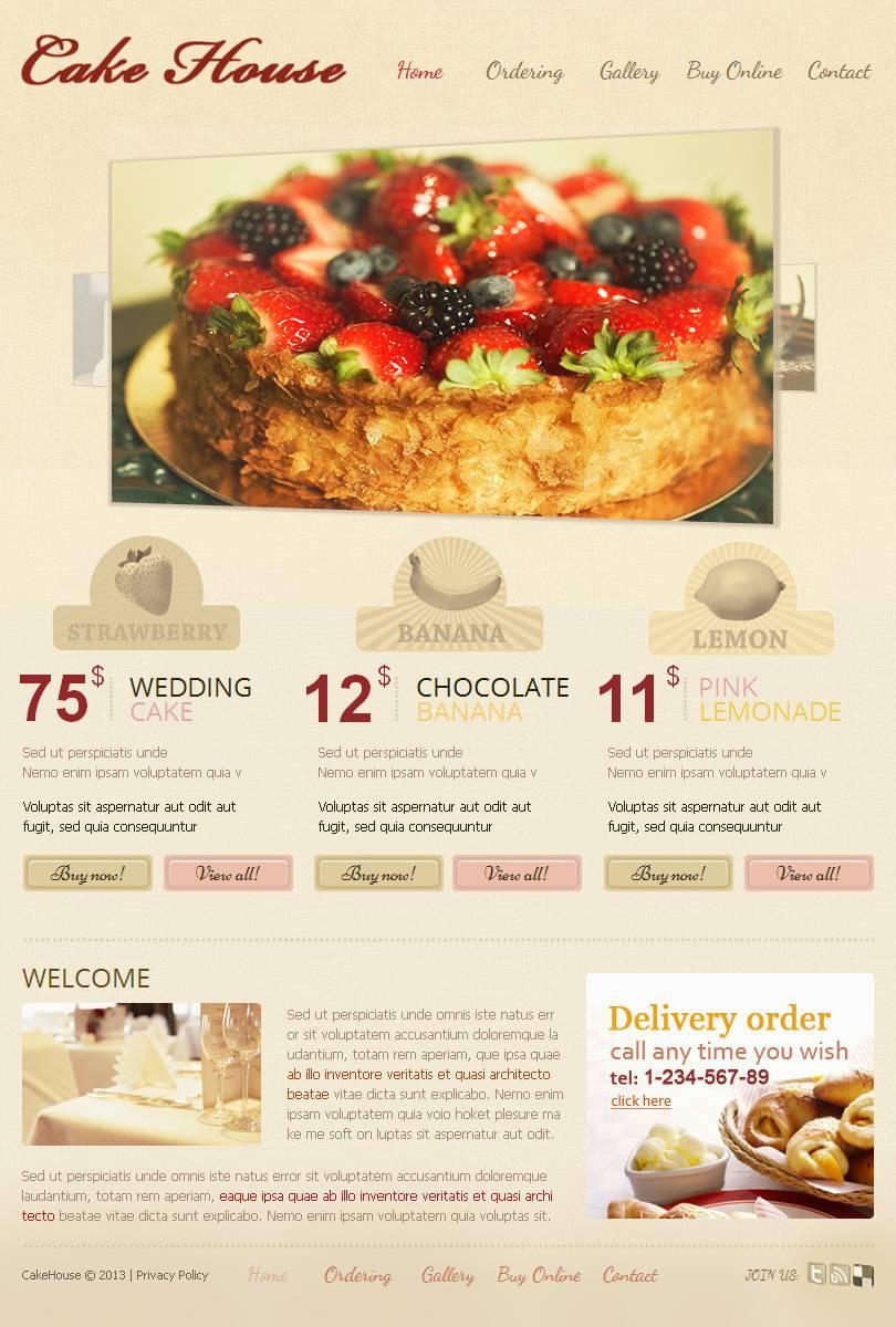 Bakery Facebook HTML CMS Template - screenshot