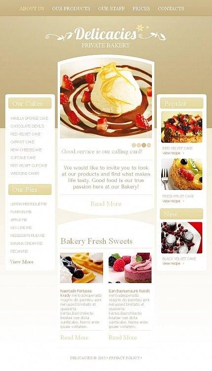 Bakery Facebook HTML CMS Template Facebook Screenshot