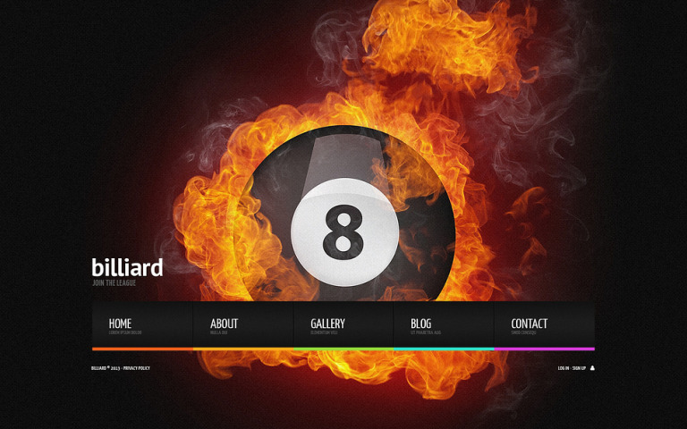 Billiards Website Template New Screenshots BIG
