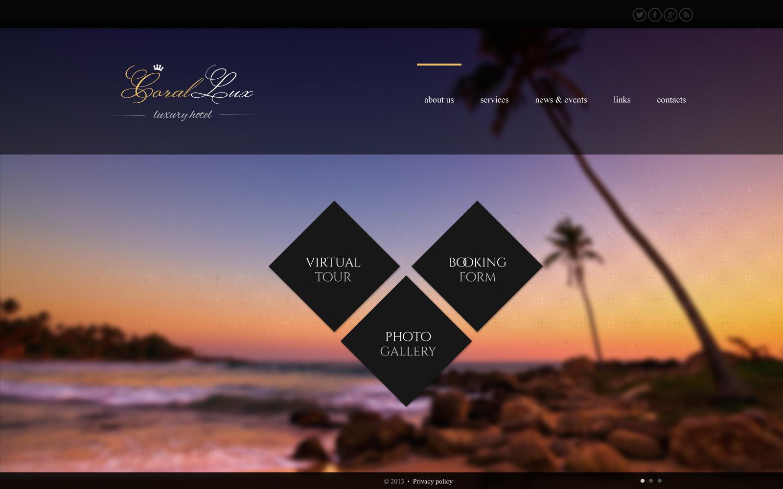 Bootstrap Шаблон сайту на тему готелі №45254