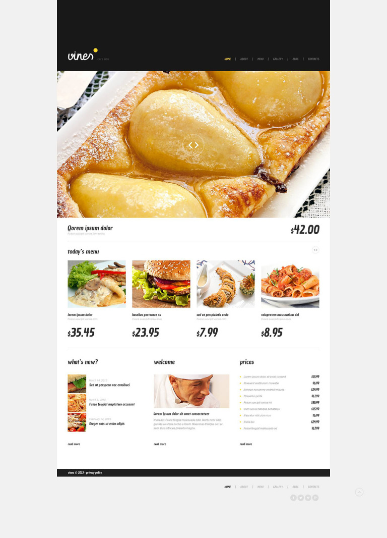 Cafe WordPress Theme New Screenshots BIG