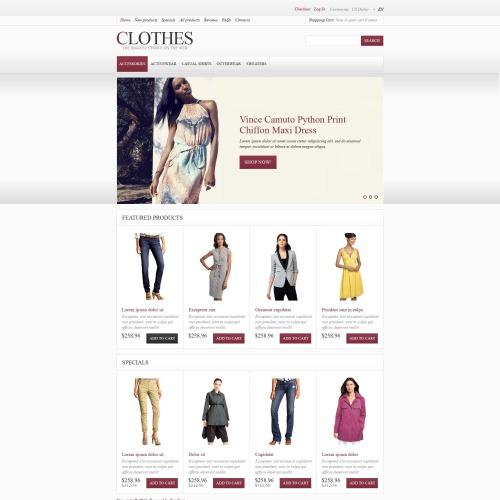 Clothes - HTML5 ZenCart Fashion Template