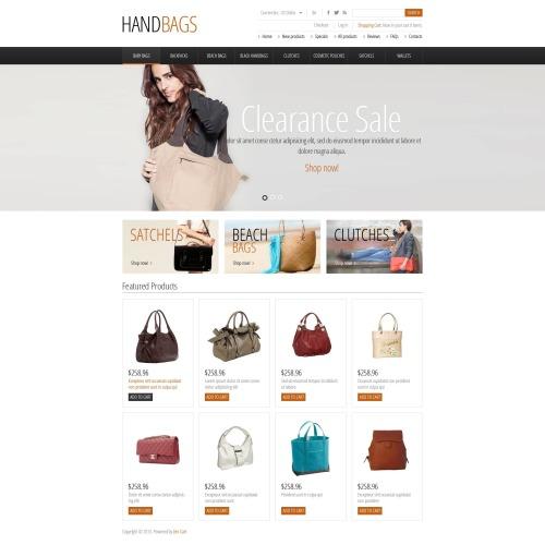 Handbags - HTML5 ZenCart Template