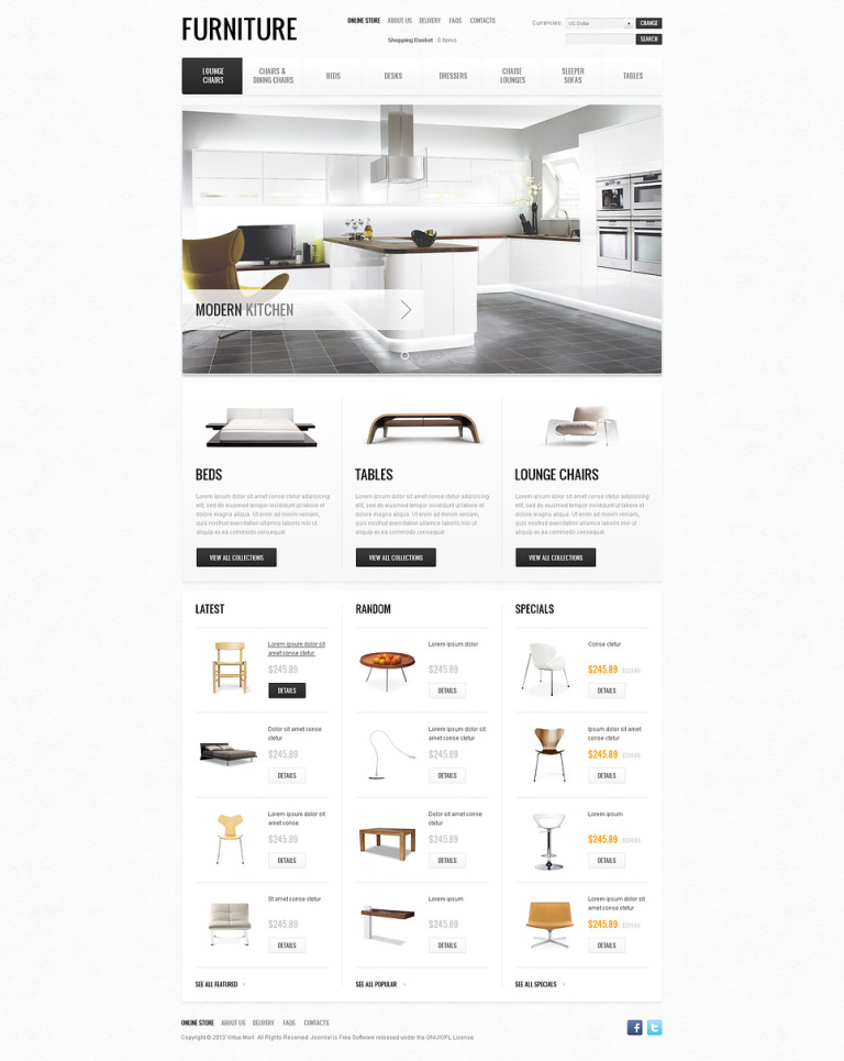 Furniture of the Future VirtueMart Template New Screenshots BIG