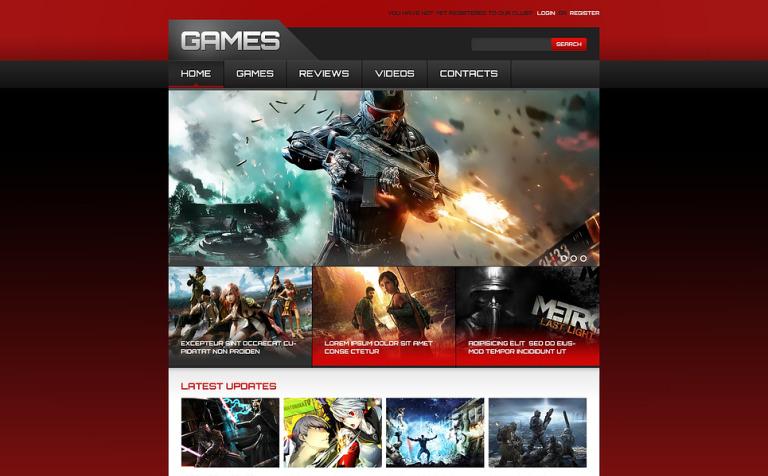 Games Responsive Website Template