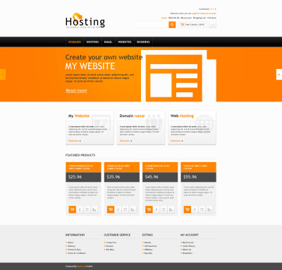 Hosting Solutions OpenCart Template
