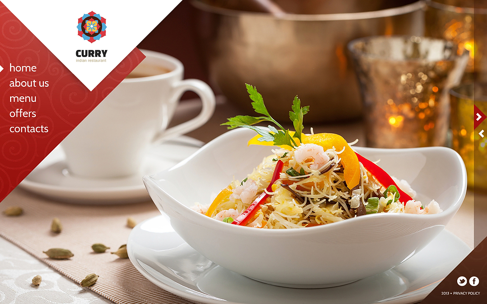 indian restaurant website template  45259