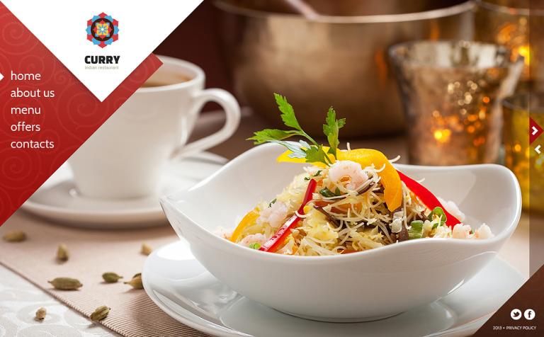 Indian Restaurant Website Template #45259