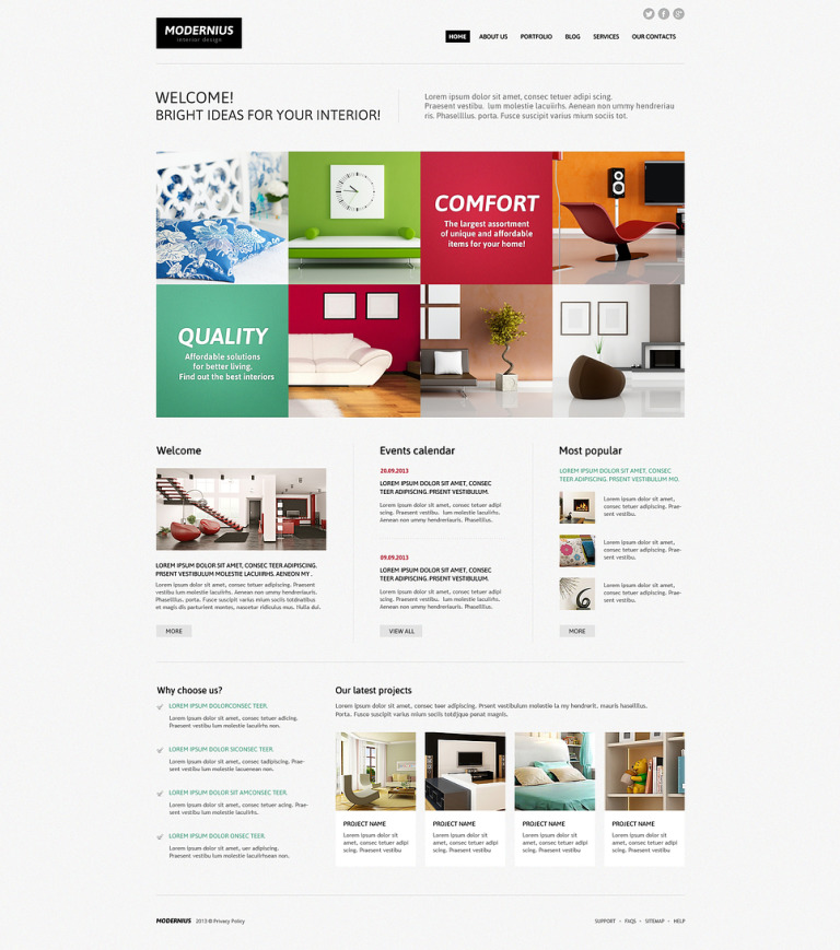 Interior Design Ideas Joomla Template New Screenshots BIG