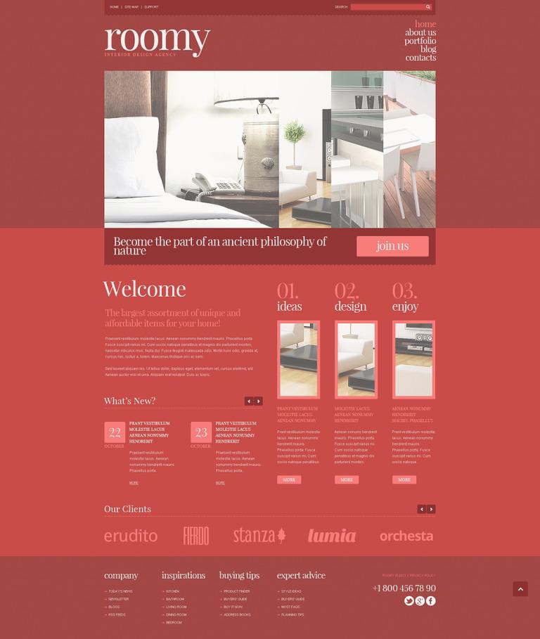 Interior Design Responsive Joomla Template New Screenshots BIG