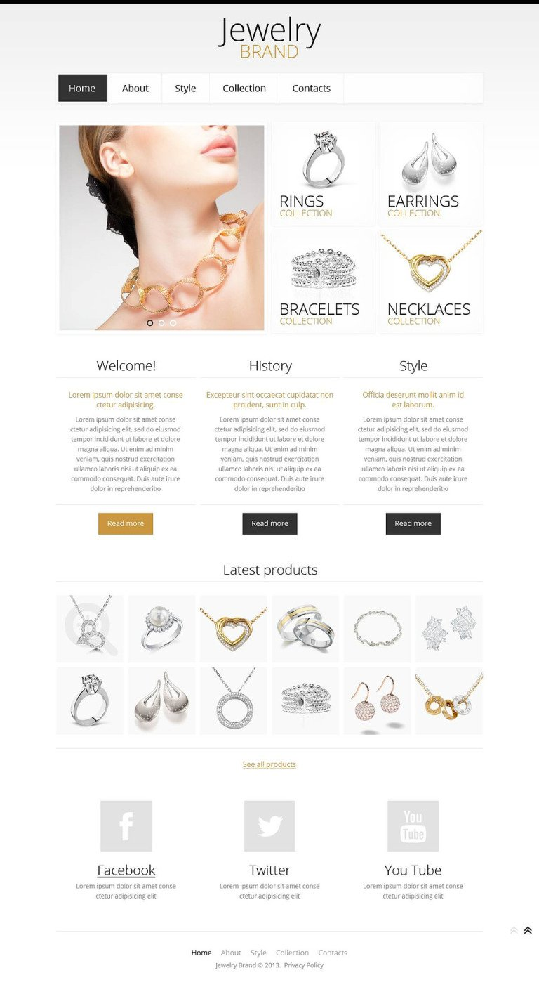 Jewelry Responsive Website Template New Screenshots BIG