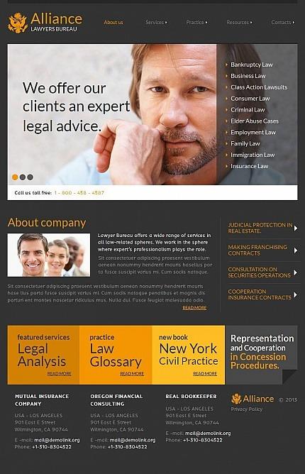 Law Firm Facebook HTML CMS Template Facebook Screenshot