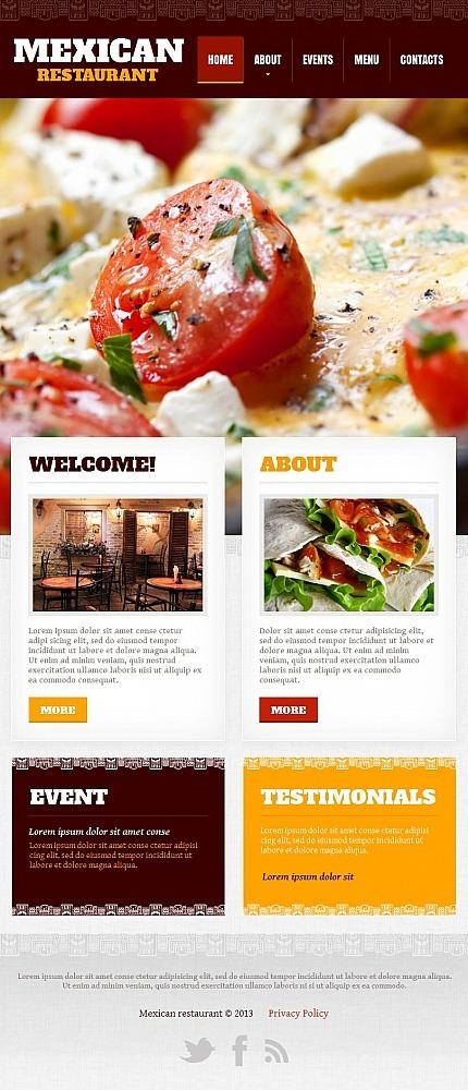 Mexican Restaurant Facebook HTML CMS Template Facebook Screenshot