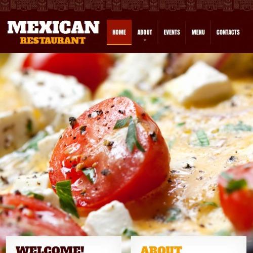 Mexican Restaurant - Facebook HTML CMS Template