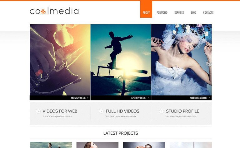 Minimalist Video Lab WordPress Theme