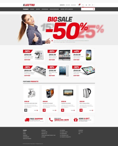 Electronics Store Responsive Tema PrestaShop