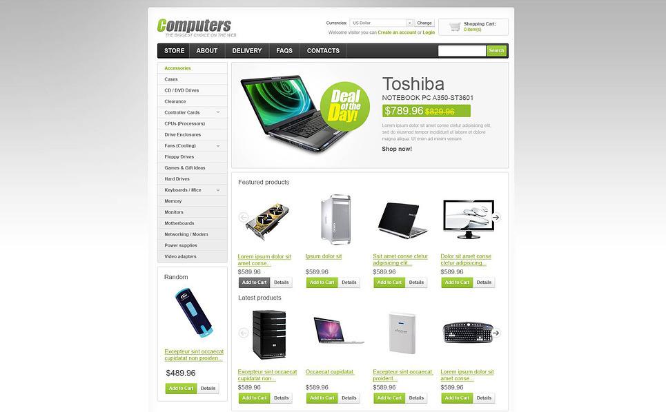 Modello VirtueMart  #45230 per Un Sito di Negozio di Computer New Screenshots BIG