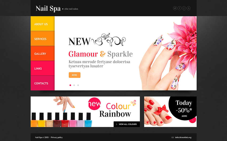 Nail Salon Website Template #45260
