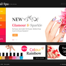 Nail Salon Bootstrap Website