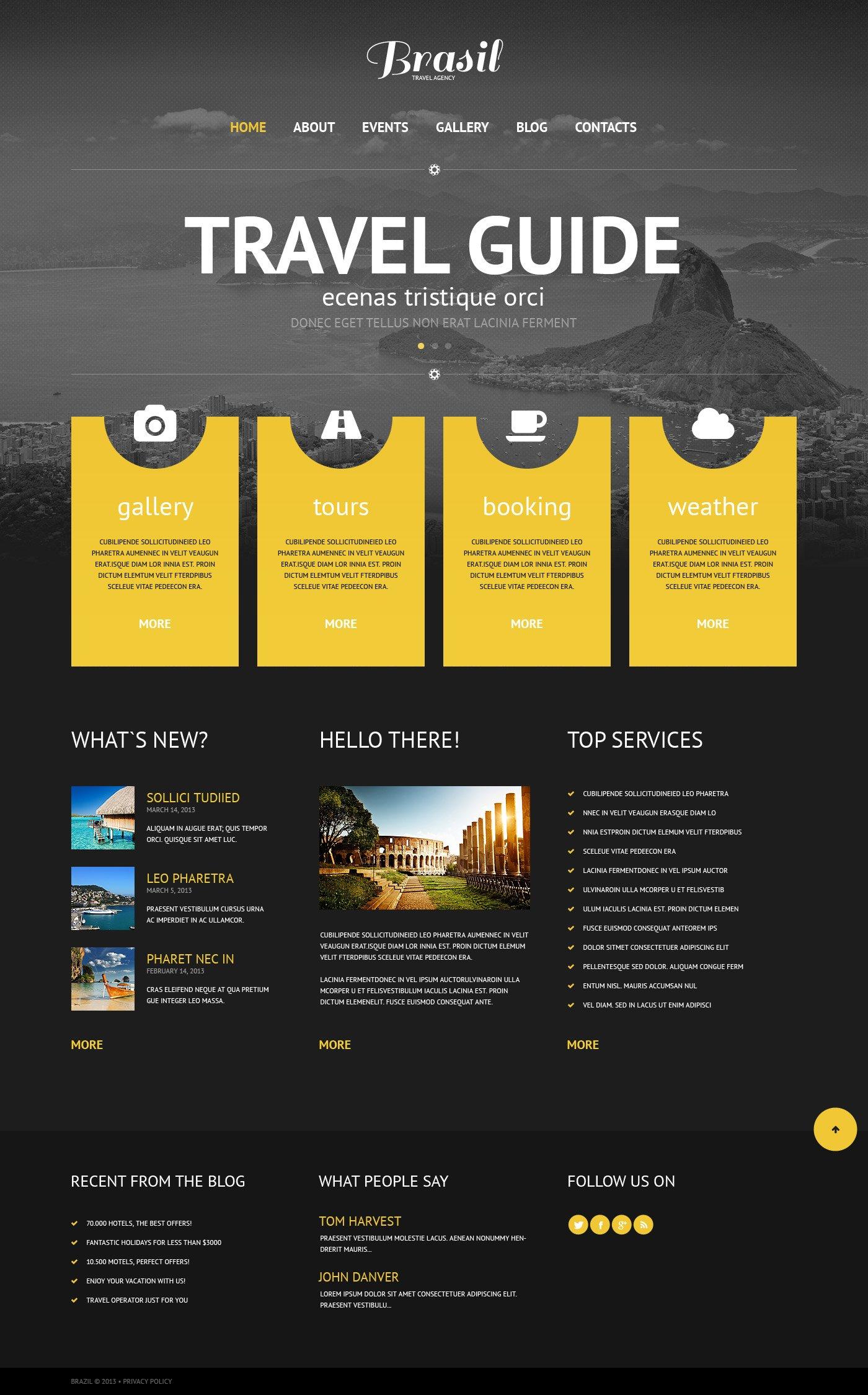 Original Travel Agency WordPress Theme #45263