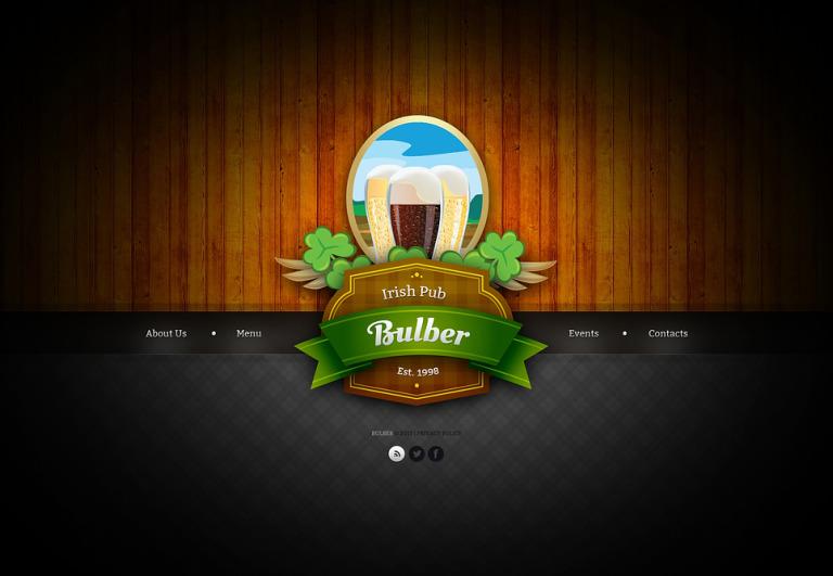 Pub Website Template New Screenshots BIG