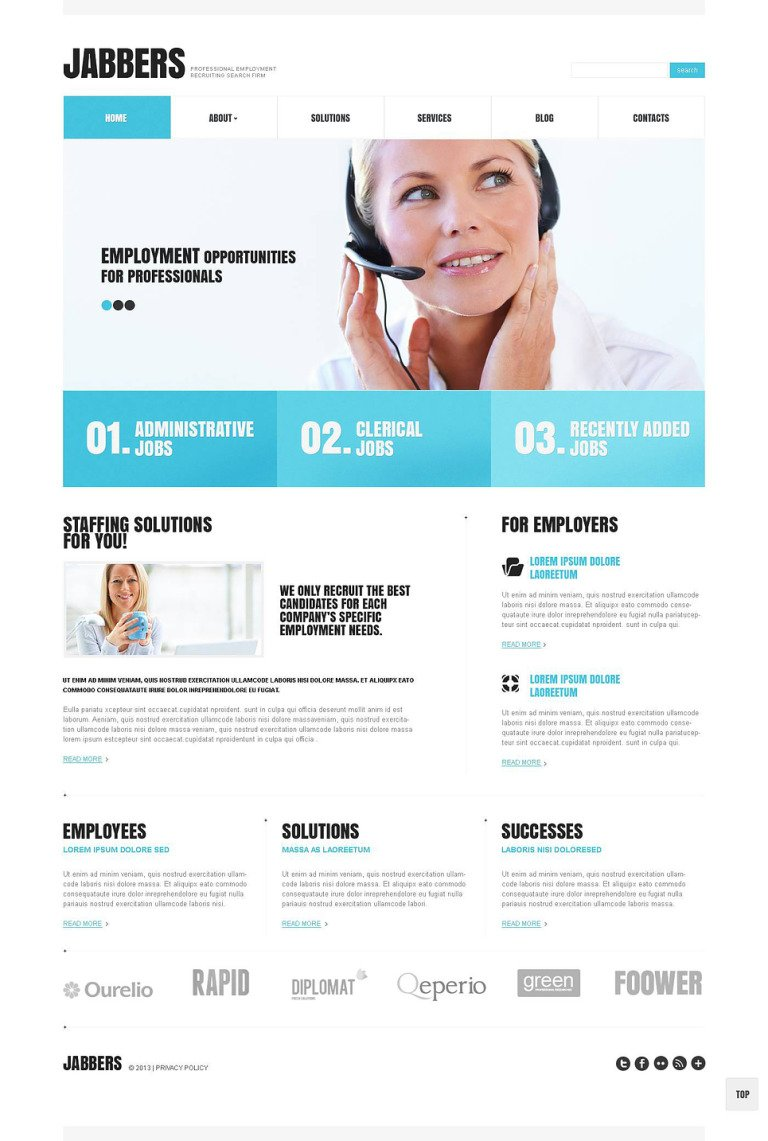 Recruiting Company WordPress Theme New Screenshots BIG