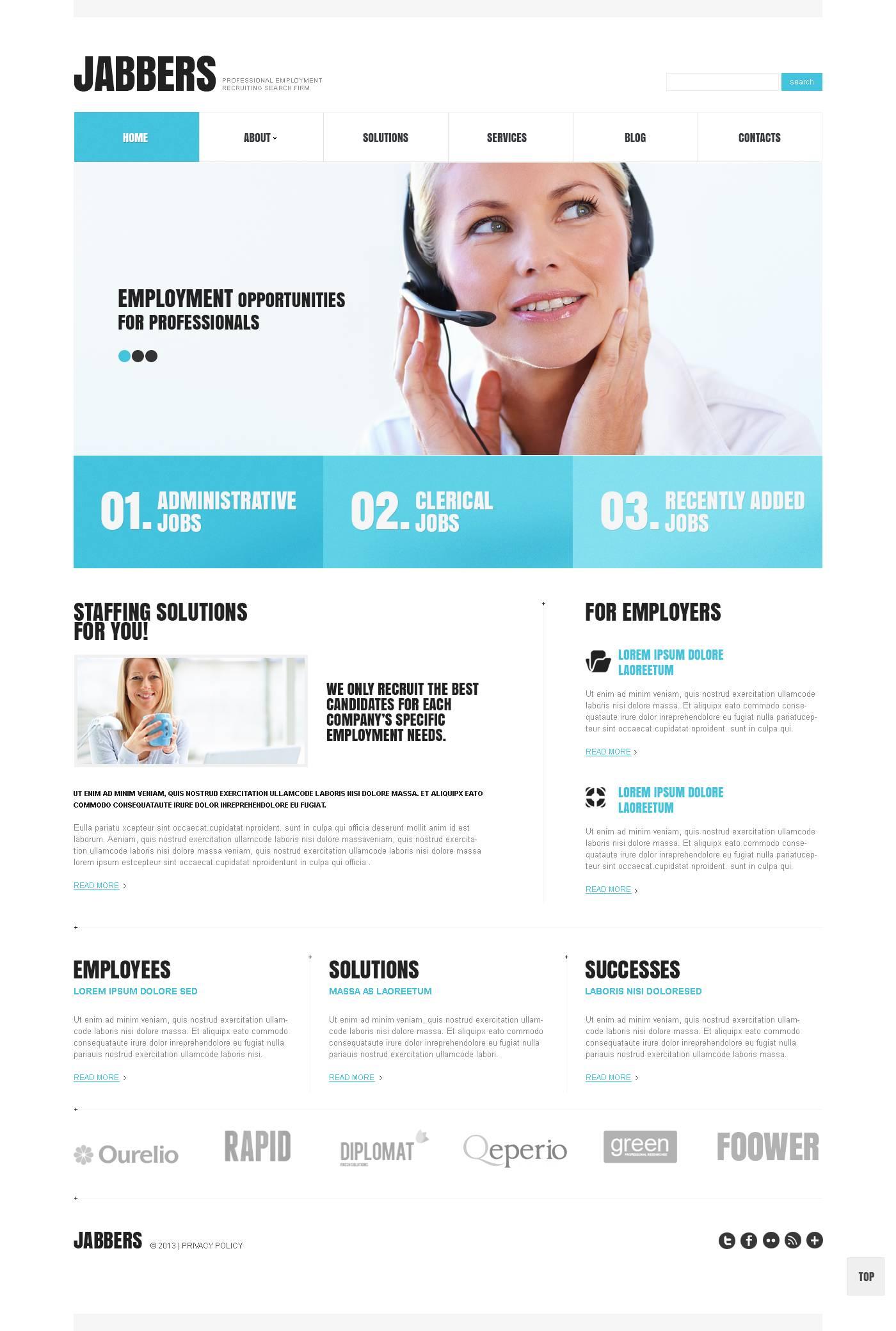 Responsive Recruiting Company Wordpress #45242