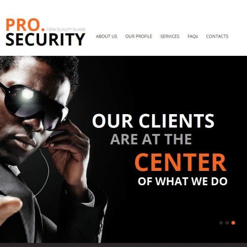 Pro Security - Facebook HTML CMS Template